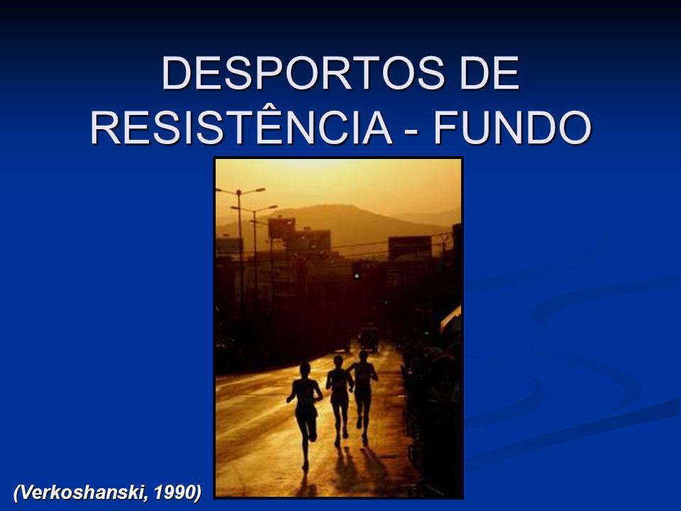 DESPORTOS DE RESISTÊNCIA - FUNDO (Verkoshanski, 1990)