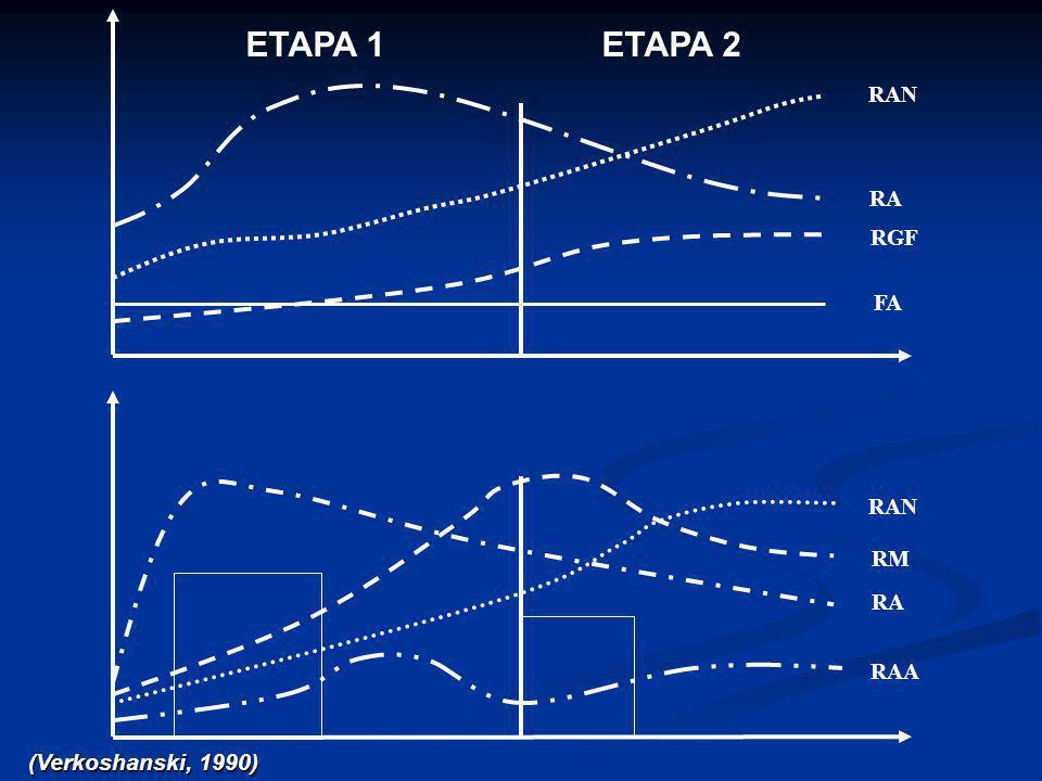 ETAPA 1ETAPA 2 FA RGF RA RAN RA RAN RM RAA (Verkoshanski, 1990)