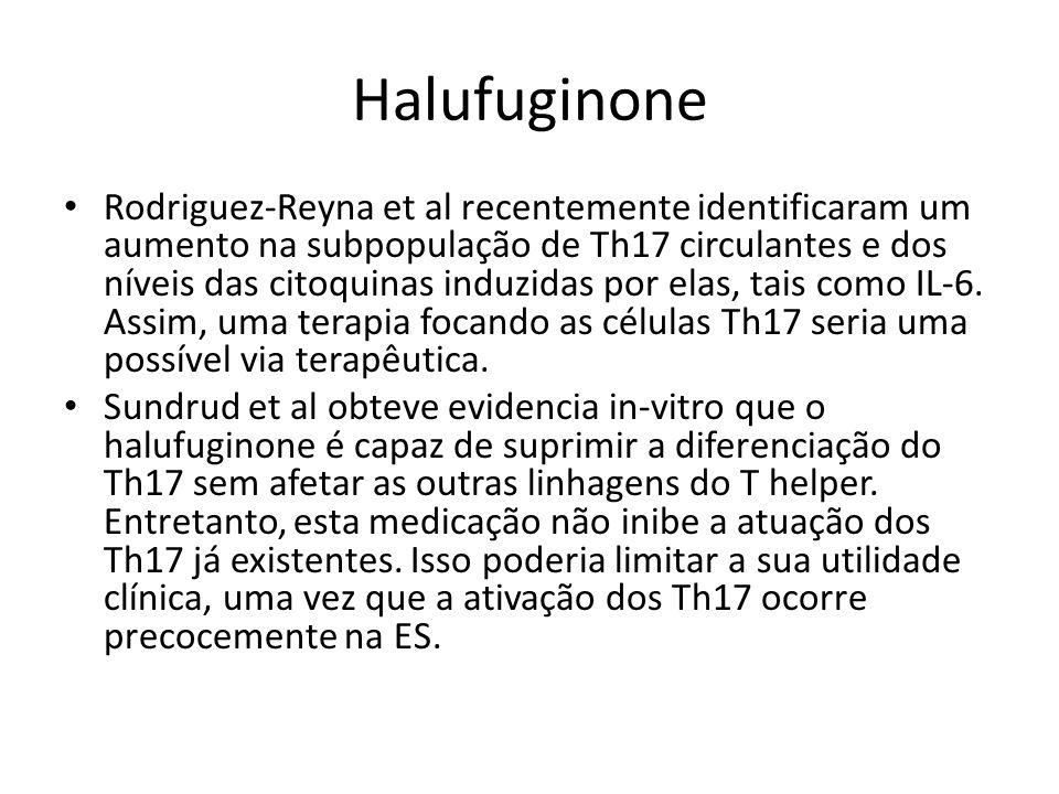 Halufuginone Rodriguez-Reyna et al recentemente identificaram um aumento na subpopulação de Th17 circulantes e dos níveis das citoquinas induzidas por