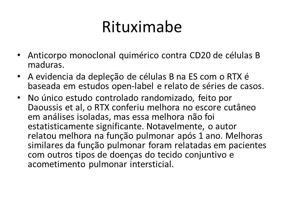 Rituximabe Anticorpo monoclonal quimérico contra CD20 de células B maduras. A evidencia da depleção de células B na ES com o RTX é baseada em estudos