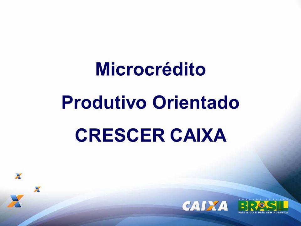 Apresentação Microcr é dito Produtivo Orientado CRESCER Programa que faz parte do conjunto de pol í ticas do Governo Federal que visam estimular o crescimento de micro e pequenos empreendimentos formais e informais.