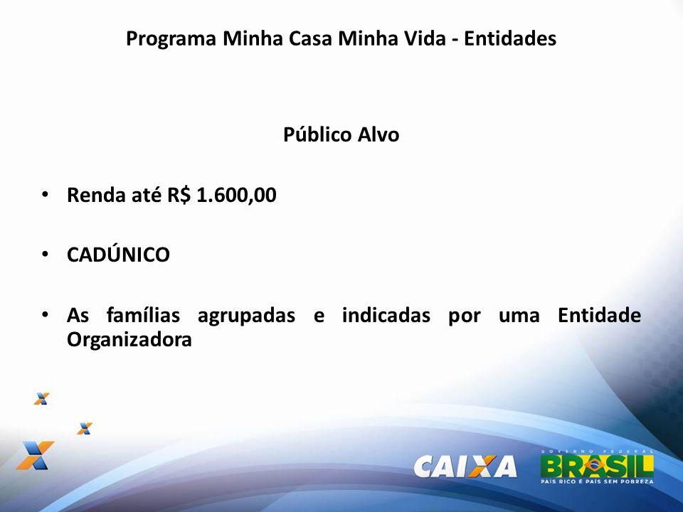 Programa Minha Casa Minha Vida - Entidades Entidade Organizadora Habilitada pelo Ministério das Cidades.