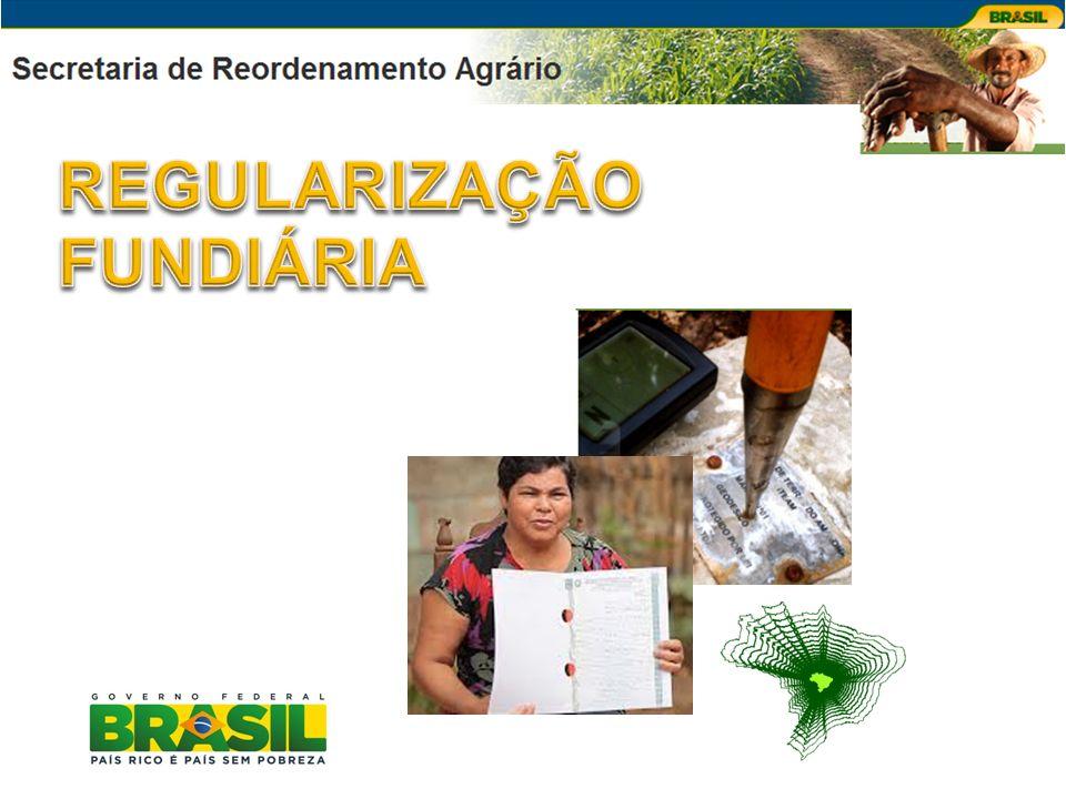 FINALIDADE Apoiar os Estados na regularização fundiária com a emissão de títulos para beneficiar os agricultores familiares, garantindo-lhes segurança jurídica da posse do imóvel, a partir da implantação do Cadastro de Terras