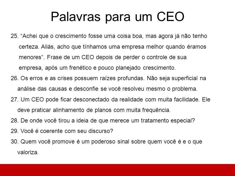Palavras para um CEO 25.