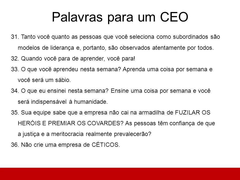 Palavras para um CEO 31.