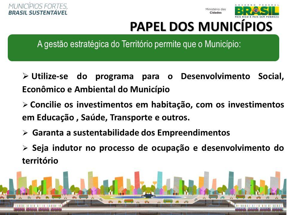 Utilize-se do programa para o Desenvolvimento Social, Econômico e Ambiental do Município Concilie os investimentos em habitação, com os investimentos