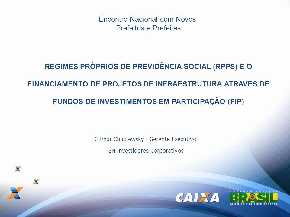 Encontro Nacional com Novos Prefeitos e Prefeitas REGIMES PRÓPRIOS DE PREVIDÊNCIA SOCIAL (RPPS) E O FINANCIAMENTO DE PROJETOS DE INFRAESTRUTURA ATRAVÉ