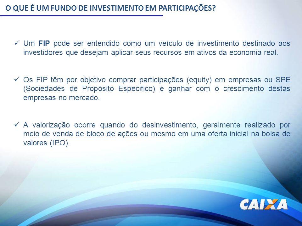 O QUE É UM FUNDO DE INVESTIMENTO EM PARTICIPAÇÕES? Um FIP pode ser entendido como um veículo de investimento destinado aos investidores que desejam ap