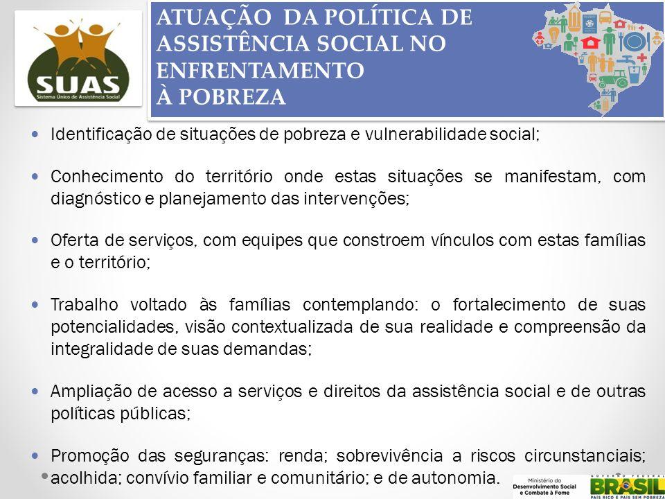 ATUAÇÃO DA POLÍTICA DE ASSISTÊNCIA SOCIAL NO ENFRENTAMENTO À POBREZA ATUAÇÃO DA POLÍTICA DE ASSISTÊNCIA SOCIAL NO ENFRENTAMENTO À POBREZA Identificaçã