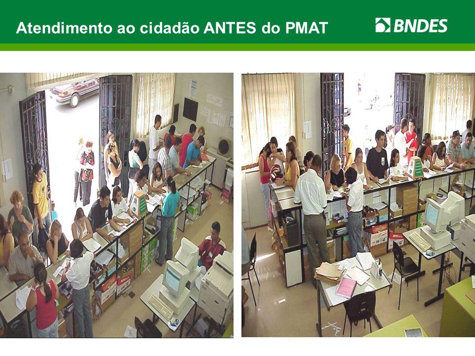 Atendimento ao cidadão ANTES do PMAT