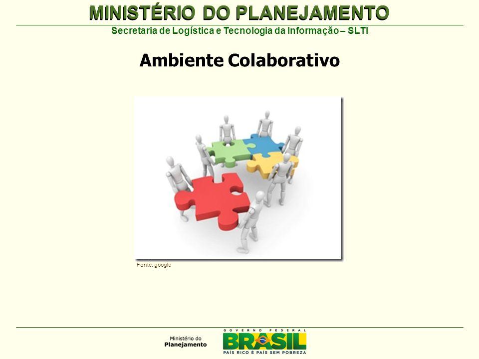 MINISTÉRIO DO PLANEJAMENTO Secretaria de Logística e Tecnologia da Informação – SLTI Ambiente Colaborativo Fonte: google