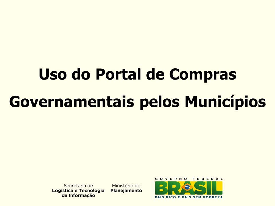 Uso do Portal de Compras Governamentais pelos Municípios