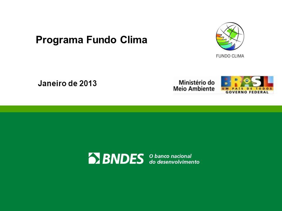 Programa Fundo Clima Janeiro de 2013