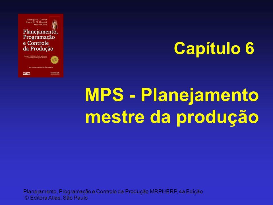 Planejamento, Programação e Controle da Produção MRPII/ERP, 4a Edição © Editora Atlas, São Paulo MPS - Planejamento mestre da produção Capítulo 6