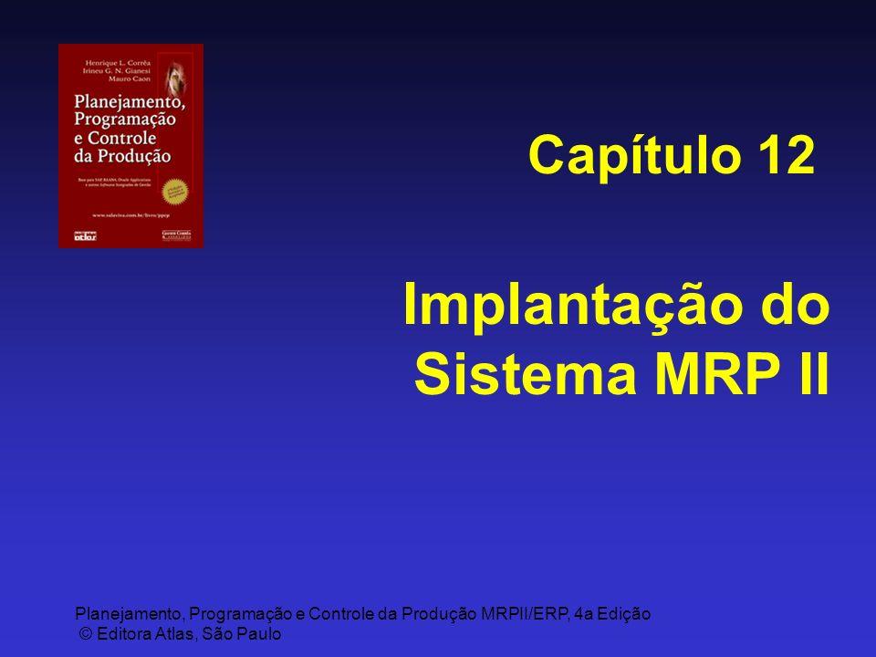 Planejamento, Programação e Controle da Produção MRPII/ERP, 4a Edição © Editora Atlas, São Paulo Implantação do Sistema MRP II Capítulo 12