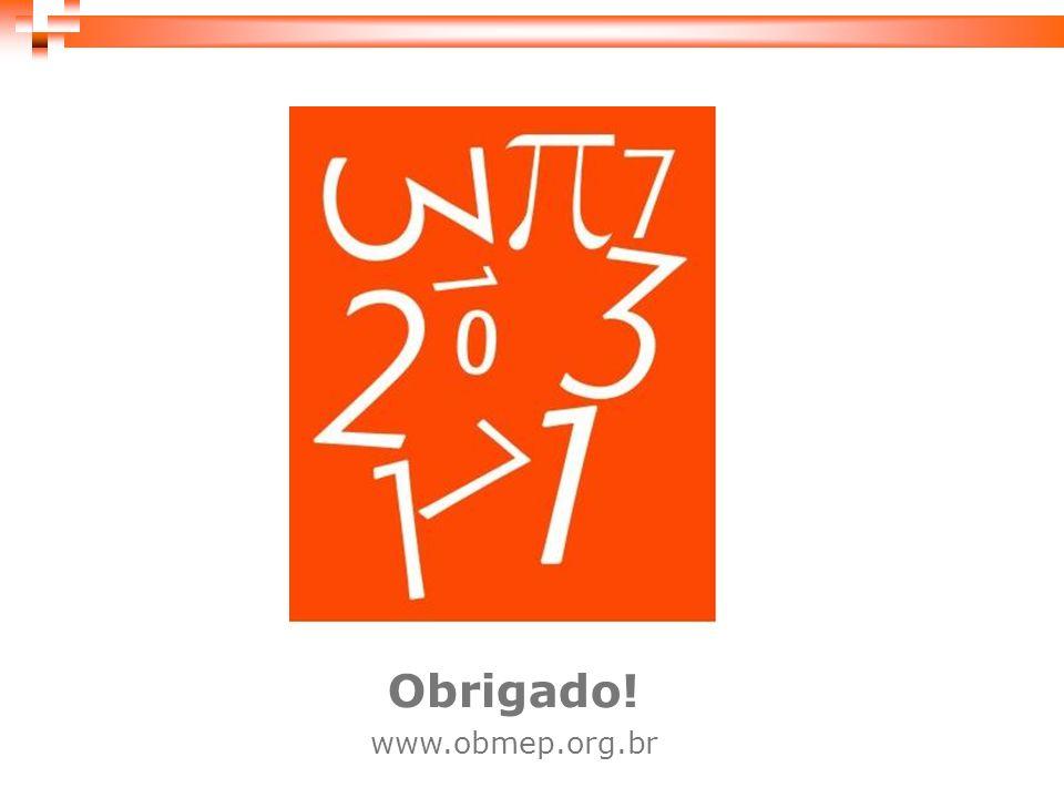 Obrigado! www.obmep.org.br