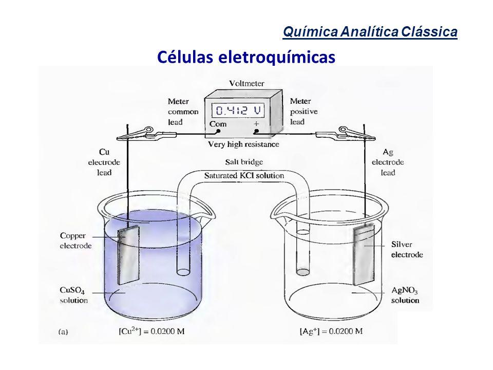 Química Analítica Clássica Células eletroquímicas
