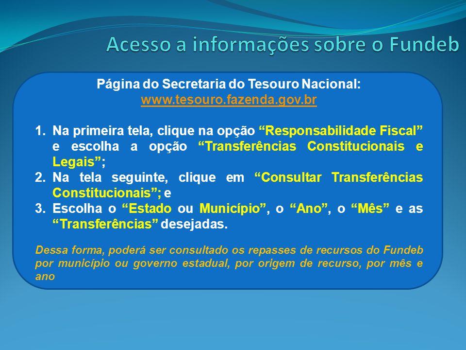 Página do Secretaria do Tesouro Nacional: www.tesouro.fazenda.gov.br www.tesouro.fazenda.gov.br 1.Na primeira tela, clique na opção Responsabilidade F
