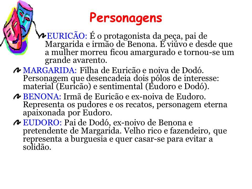 DODÓ: Filho de Eudoro e noivo de Margarida.