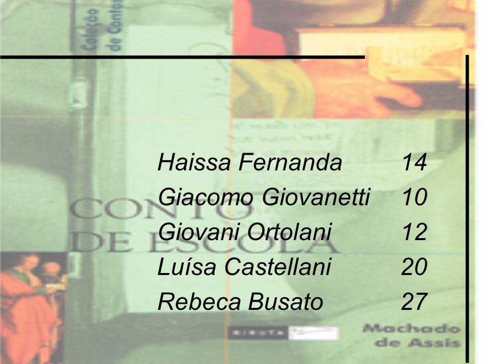 Haissa Fernanda14 Giacomo Giovanetti10 Giovani Ortolani12 Luísa Castellani20 Rebeca Busato27