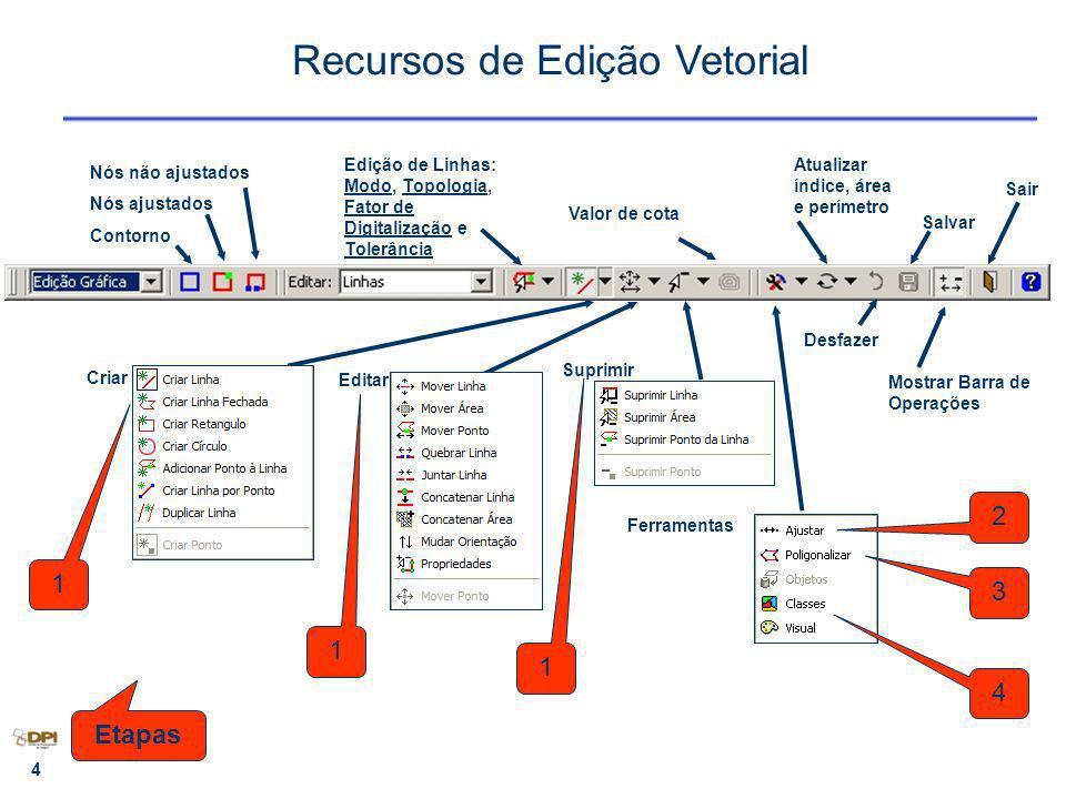 5 Exercício 12 Criar amostra mapa pedológico Objetivo : testar as ferramentas de edição topológica – Importar 2 arq.