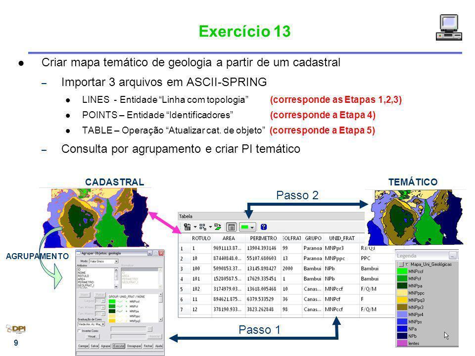 10 Conversão Vetor - Varredura Matriz -> Vetor Vetor -> Matriz Conversão disponível somente para planos da categoria TEMÁTICA.