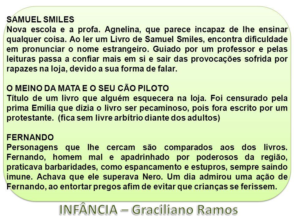 SAMUEL SMILES Nova escola e a profa. Agnelina, que parece incapaz de lhe ensinar qualquer coisa. Ao ler um Livro de Samuel Smiles, encontra dificuldad