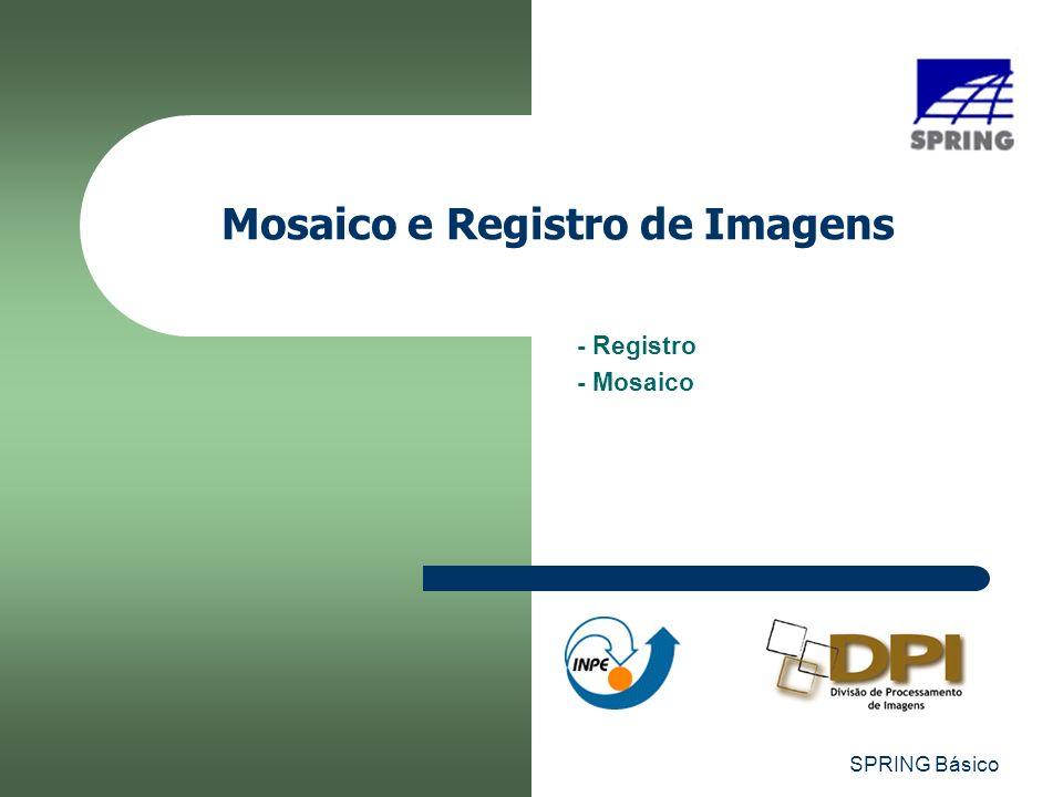 SPRING Básico Mosaico e Registro de Imagens - Registro - Mosaico