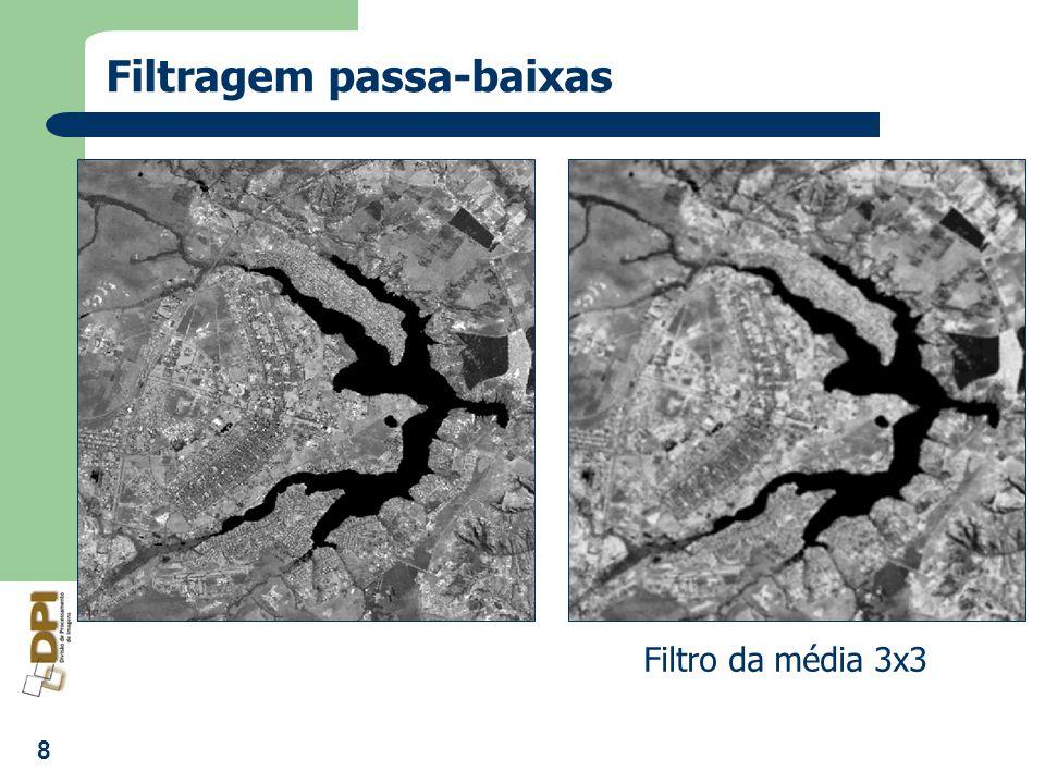 8 Filtragem passa-baixas Filtro da média 3x3
