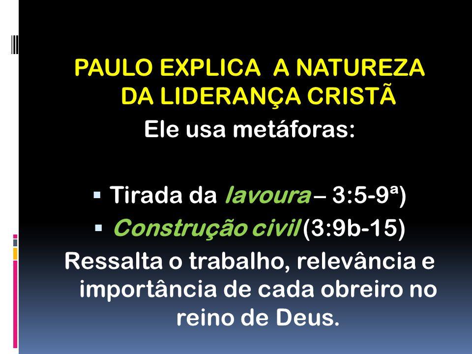 Advertência contra todos que destroem a igreja: 3:16,17 Destruir a igreja é auto- destruição.