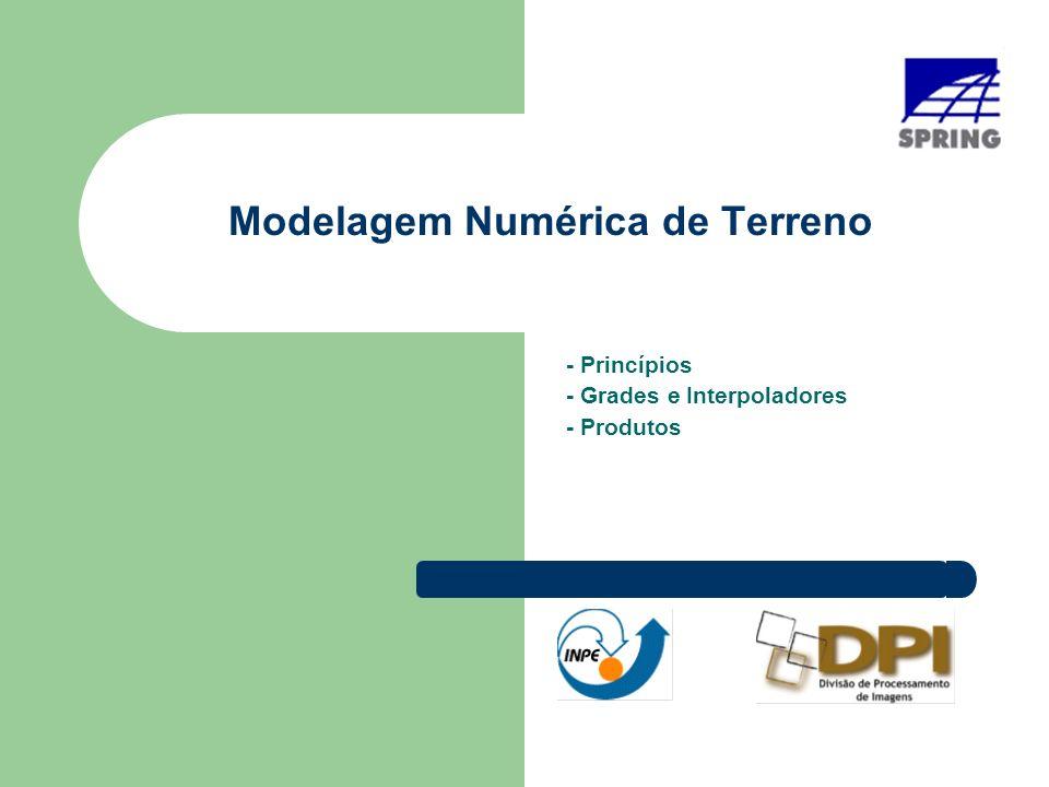 Modelagem Numérica de Terreno - Princípios - Grades e Interpoladores - Produtos