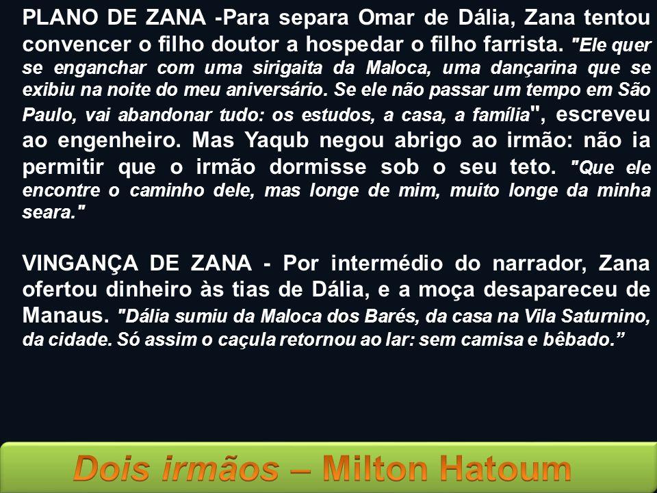 PLANO DE ZANA -Para separa Omar de Dália, Zana tentou convencer o filho doutor a hospedar o filho farrista.
