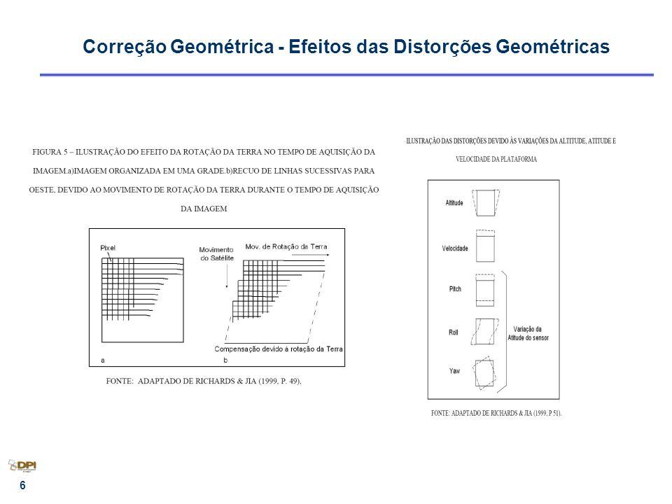 7 Correção geométrica – Transformação Geométrica 2.