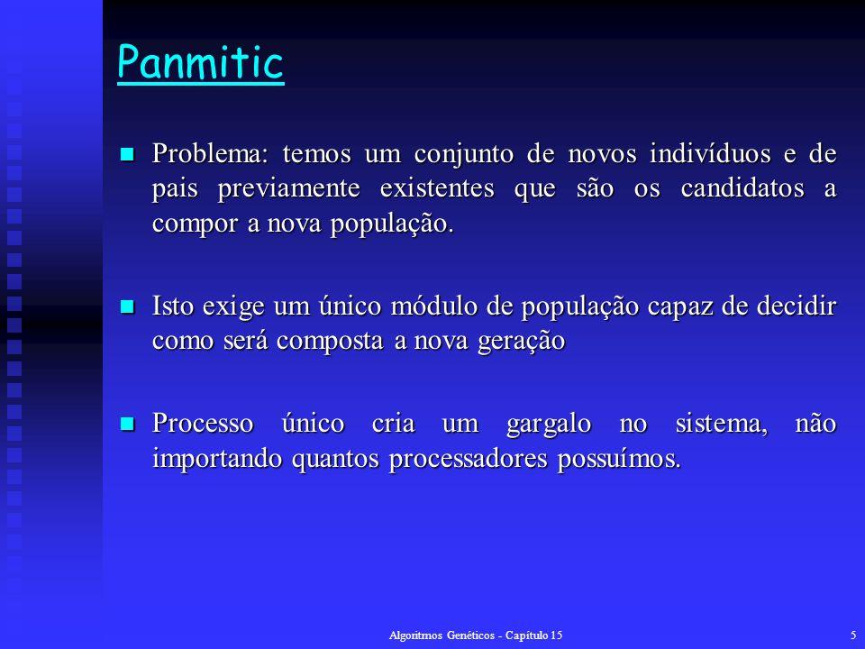 Algoritmos Genéticos - Capítulo 1516 Finely Grained Algoritmo Algoritmo Passo 1Defina um modelo adequado para resolver o problema; Gere aleatoriamente uma população de indivíduos, compute sua função de avaliação e divida-os entre as células.