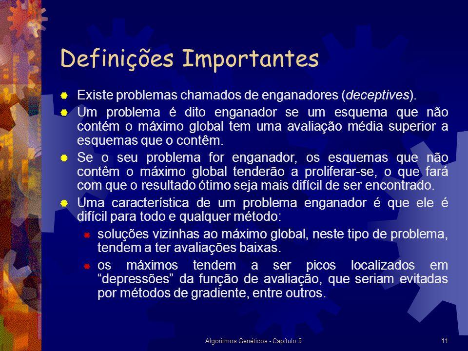 Algoritmos Genéticos - Capítulo 511 Definições Importantes Existe problemas chamados de enganadores (deceptives).