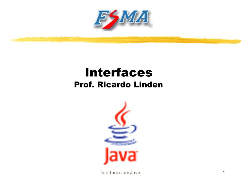 Interfaces em Java1 Interfaces Prof. Ricardo Linden