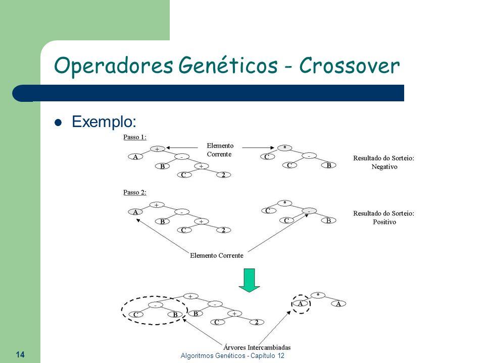 Algoritmos Genéticos - Capítulo 12 14 Exemplo: Operadores Genéticos - Crossover