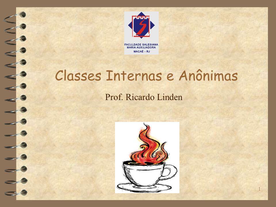 Classes Internas e Anônimas1 Prof. Ricardo Linden