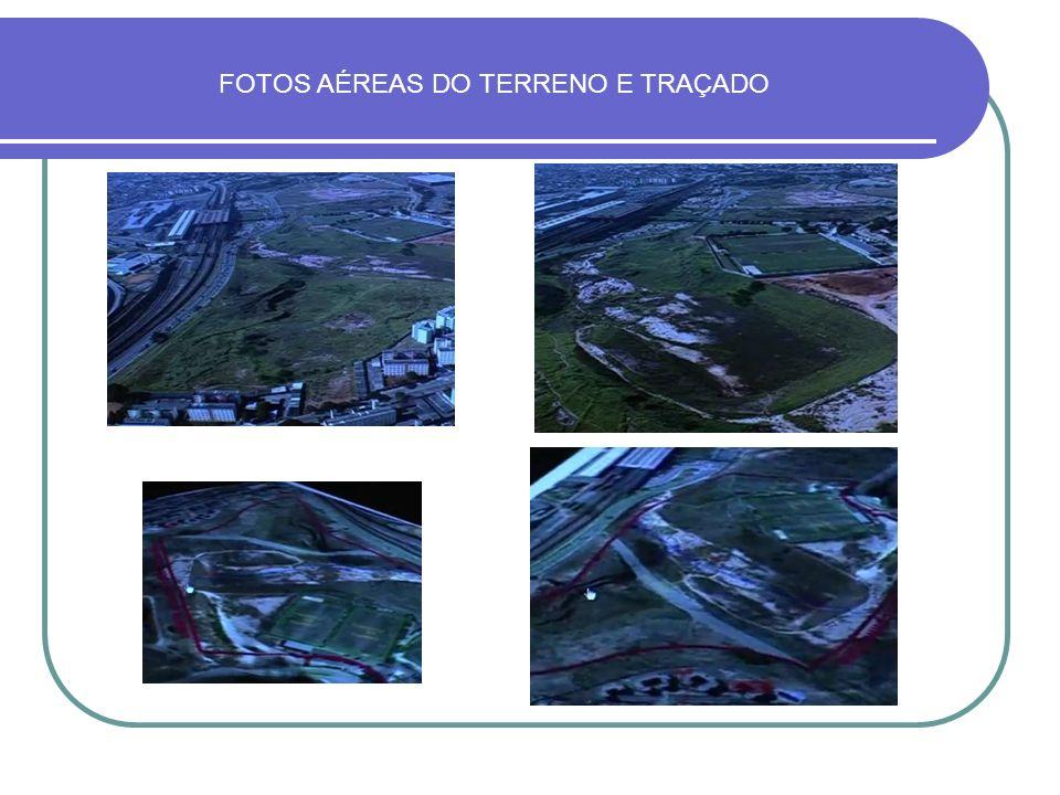 FOTOS AÉREAS DO TERRENO E TRAÇADO