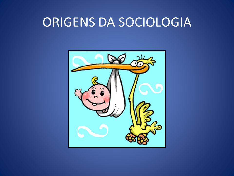 ORIGENS DA SOCIOLOGIA
