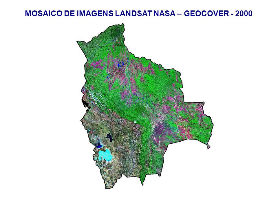 MOSAICO DE IMAGENS LANDSAT NASA – GEOCOVER - 2000