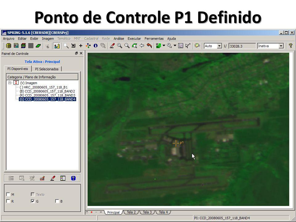 Definir P1 na Tela Auxiliar Clicar no centro da marca Manter botão do mouse clicado e arrastar para próximo ao aeroporto Soltar o botão do mouse
