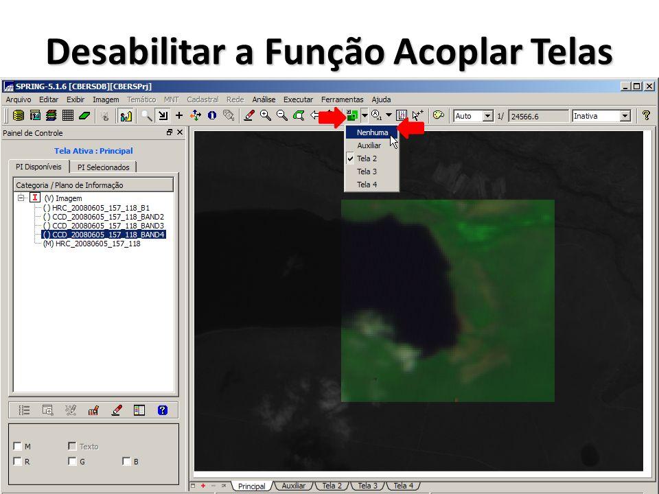 Fusão de Imagem HRC com Composição de Cores de Imagens CCD Realçar contraste de imagem HRC Realçar contraste da imagens CCD Transformar composição colorida com imagens CCD de RGB para IHS Transformar a composição IHS para RGB com I sendo a imagem HRC