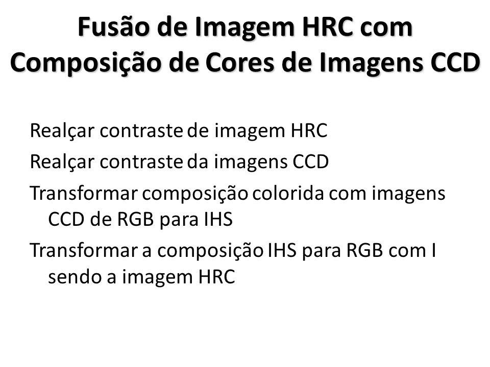 Fusão de Imagem HRC com Composição de Cores de Imagens CCD Realçar contraste de imagem HRC Realçar contraste da imagens CCD Transformar composição col