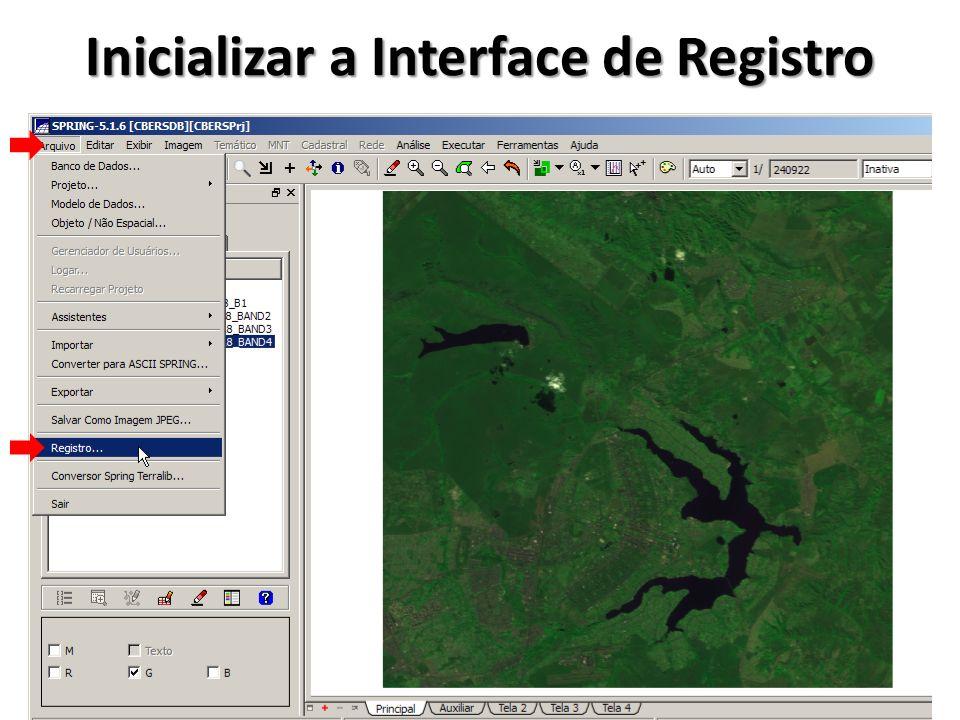 Inicializar a Interface de Registro