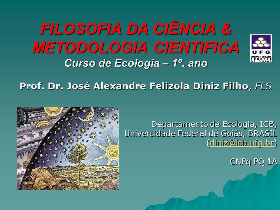 FILOSOFIA DA CIÊNCIA & METODOLOGIA CIENTIFICA Curso de Ecologia – 1º.