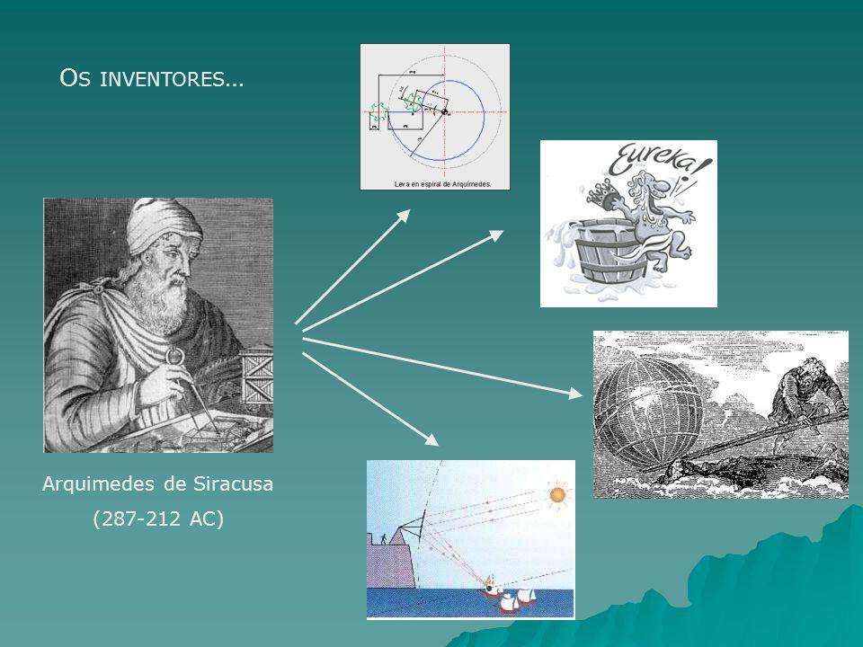 Arquimedes de Siracusa (287-212 AC) O S INVENTORES …