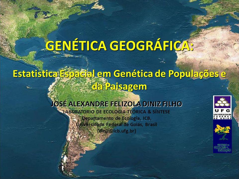 GENÉTICA GEOGRÁFICA: Estatistica Espacial em Genética de Populações e da Paisagem JOSÉ ALEXANDRE FELIZOLA DINIZ FILHO LABORATORIO DE ECOLOGIA TEÓRICA