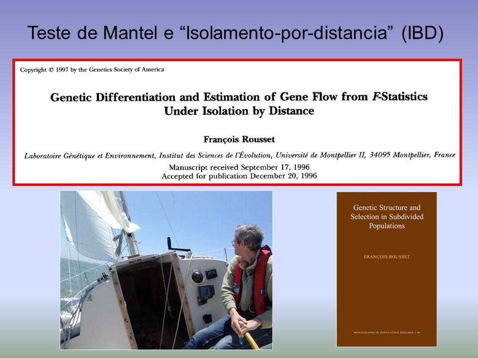 Teste de Mantel e Isolamento-por-distancia (IBD)