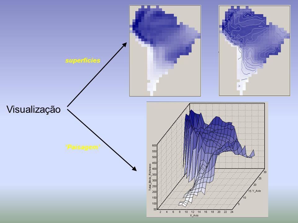 Visualização Paisagem superficies